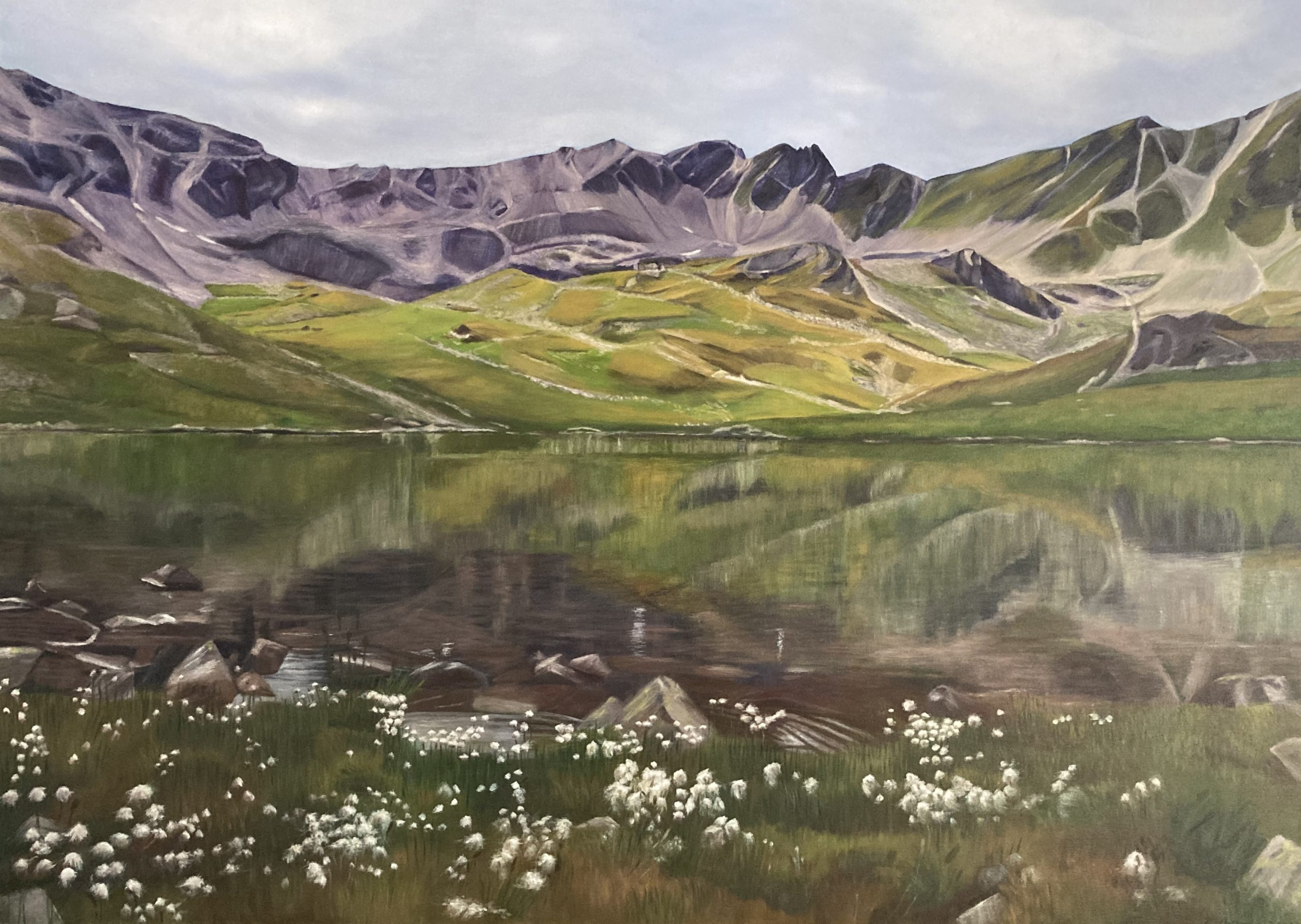 Macun lai d'Immez, 2021 (oil on canvas, 100x140cm)